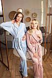 Женская пижама Christel укороченный халат и штыны, фото 7