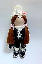 Текстильна лялька ручної роботи, висота 28 см