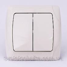 Выключатель двухклавишный VI-KO Carmen скрытой установки (белый)