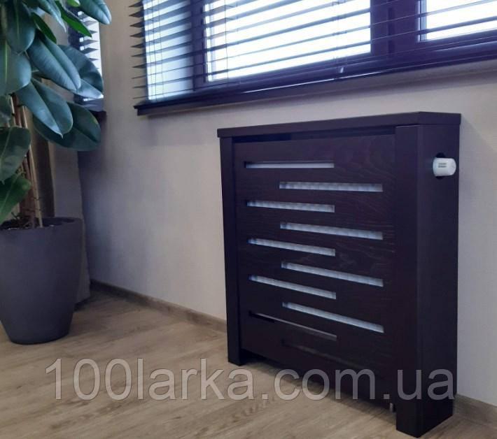 Декоративный экран-решетка (короб) на батарею отопления из дерева R144-K