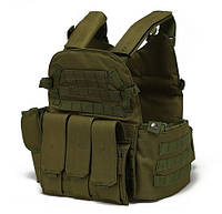 Тактический военный жилет-плитоноска.(Песок), фото 1
