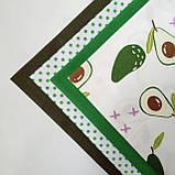 Набор хлопковой ткани для рукоделия из 4 шт. Авокадо, фото 3