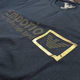 Мужская футболка Emporio Armani CK1650 синяя, фото 3