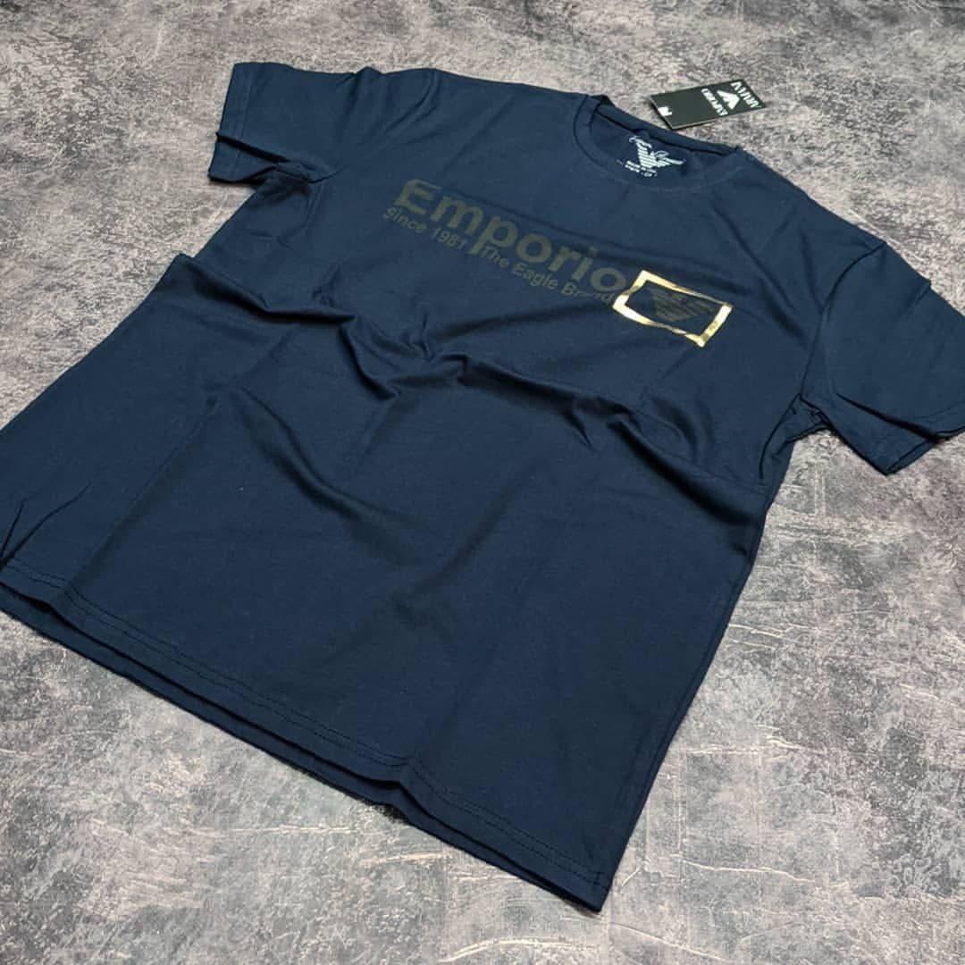 Мужская футболка Emporio Armani CK1650 синяя