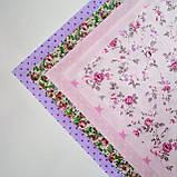 Набор хлопковой ткани для рукоделия из 5шт. Розовая мечта, фото 3