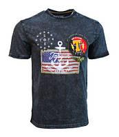 Оригинальная футболка Top Gun Anchor Us Flag Tee TGM1905 (Navy), фото 1