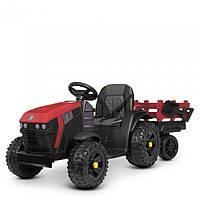 Детский электромобиль Трактор с прицепом 4463EBLR-3,мягкое сиденье