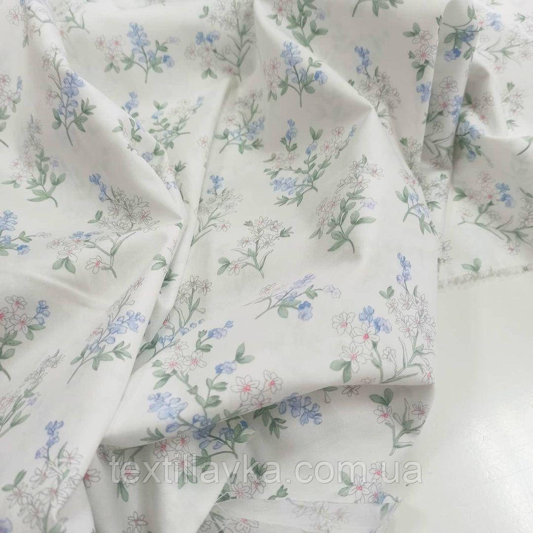Ткань хлопок для рукоделия нежные цветы