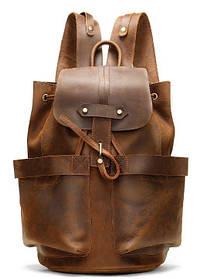 Дорожный рюкзак матовый Vintage 14888 Коньячный