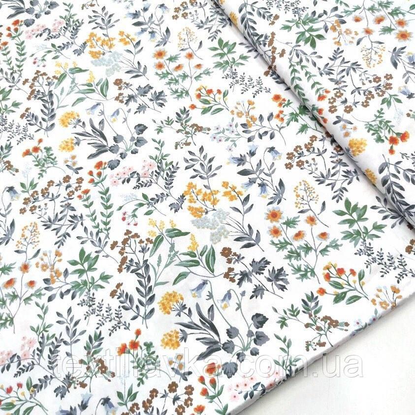 Ткань хлопок для рукоделия полевые цветы