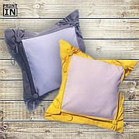 Печать на подушке с накладкой