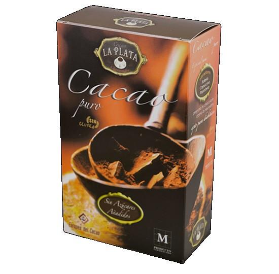 Какао La Plata Cacao Puro без глютена без сахара 250 г Испания