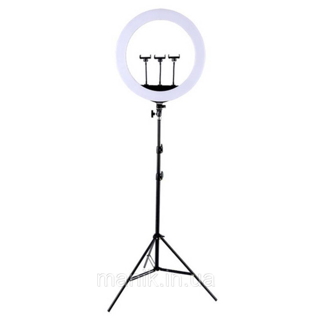 Кольцевая лампа Ring Light HQ-18N LED 46см, 55 Вт (Пульт ДУ, сумка, штатив 2м)
