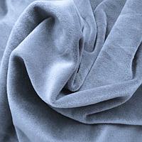 Ткань велюр плюш на ХБ основе серо-голубой 180 см
