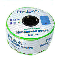 Капельная лента Presto-PS щелевая Blue Line отверстия через 10 см, расход воды 2,2 л/ч, длина 1000 м