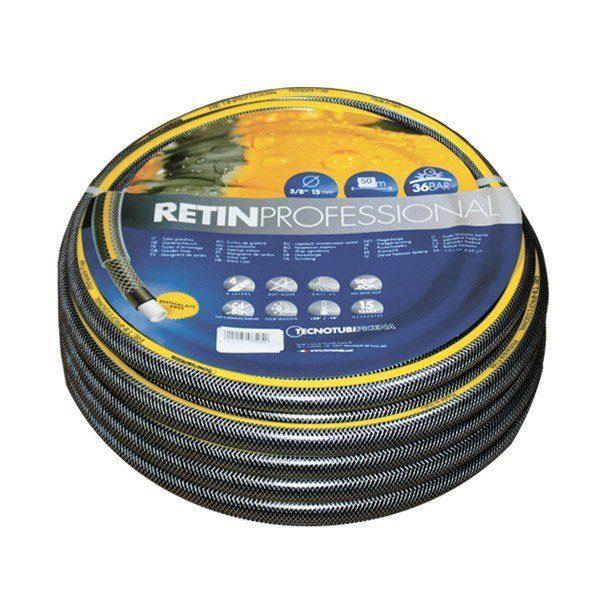 Шланг садовый Tecnotubi Retin Professional для полива диаметр 1/2 дюйма, длина 15 м (RT 1/2 15)