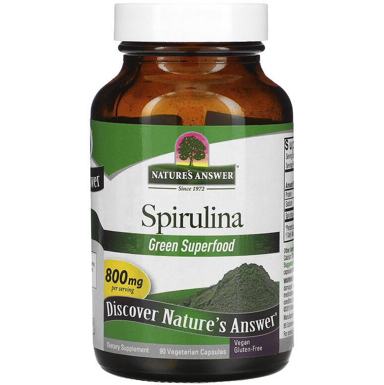 "Спирулина Nature's Answer ""Spirulina"" 800 мг (90 капсул)"