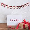 Бумажная гирлянда на День Святого Валентина с сердечками (2 м.), фото 4