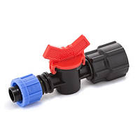 Кран шаровый Presto-PS с внутренней резьбой 3/4 дюйма для капельной ленты 16 мм (FL-011734)