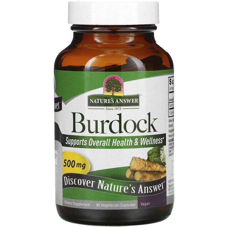 "Корень лопуха Nature's Answer ""Burdock"" 500 мг (90 капсул)"