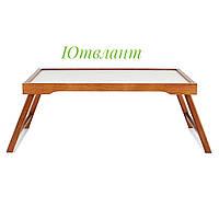Деревянный переносной столик для завтрака на кровать, бамбуковый столик-поднос