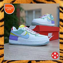 🔥 Кроссовки женские повседневные Nike Air Force 1 Shadow цветные (найк аир форс 1)