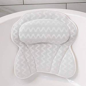 Подушка для ванной сетчатая подушка для ванны с присосками поддержка шеи и спины  спа-подушка