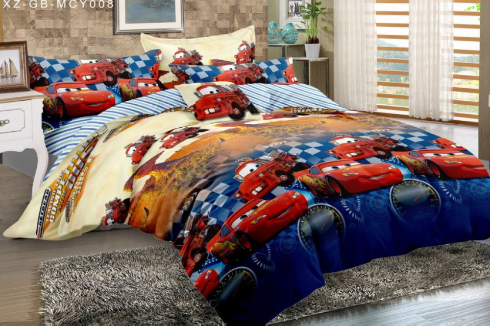 Постельное белье Тачки ранфорс ТМ Комфорт текстиль (подростковый)