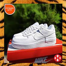 🔥 Кроссовки женские повседневные Nike Air Force 1 Shadow белые (найк аир форс 1)