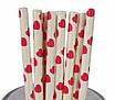 "Бумажные трубочки ""White red hearts"" (10 шт.), фото 3"