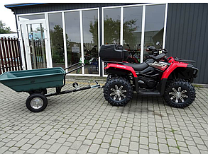 Прицеп для квадроцикла Shark ATV Trailer Garden 150kg (Green)