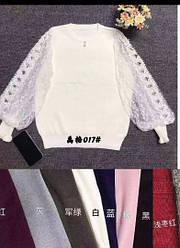 Блуза жіноча з фатиновыми рукавами оптом (універсал 42-48)