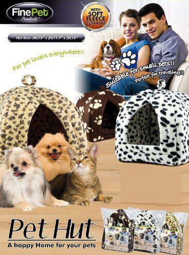 Мягкий домик для собак и кошек Pet Hut коричневый