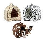 Мягкий домик для собак и кошек Pet Hut коричневый, фото 4