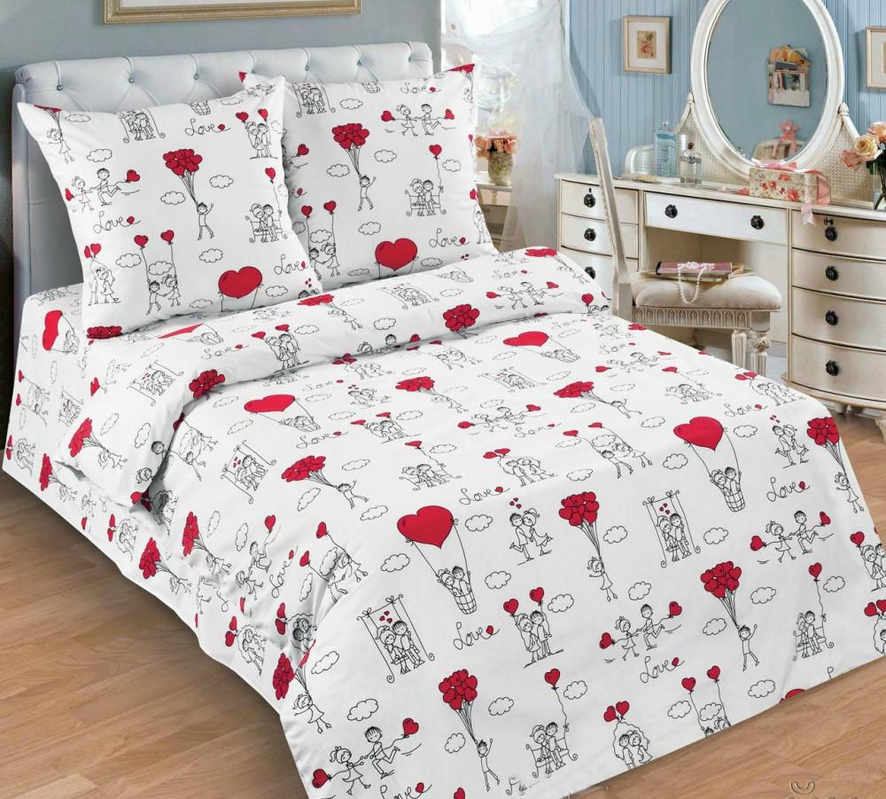 Постільна білизна Любов-морква поплін ТМ Комфорт текстиль (в дитяче ліжечко)