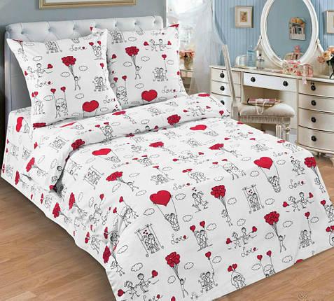 Постільна білизна Любов-морква поплін ТМ Комфорт текстиль (в дитяче ліжечко), фото 2