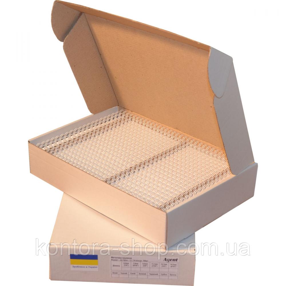 Пружины металлические 12,7 мм белые (100 штук)