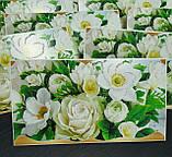 """Упаковка 10 штук конвертів для грошей """"Білі квіти"""", фото 3"""
