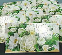 """Упаковка 10 штук конвертів для грошей """"Білі квіти"""""""