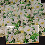 """Упаковка 10 штук конвертів для грошей """"Білі квіти"""", фото 2"""