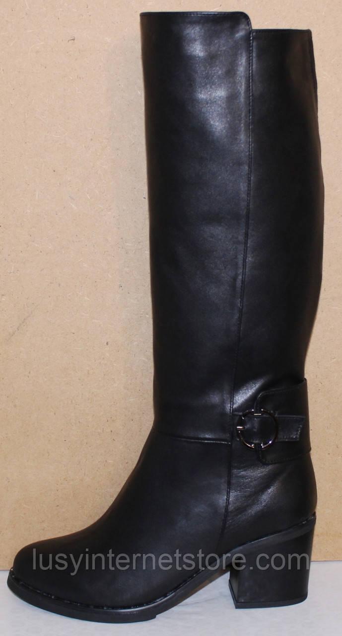 Сапоги зимние женские высокие кожаные от производителя КЛ2143