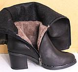 Сапоги зимние женские высокие кожаные от производителя КЛ2143, фото 5