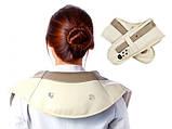 Ударный Вибромассажер для спины плеч и шеи Cervical Massage Shawls, фото 7