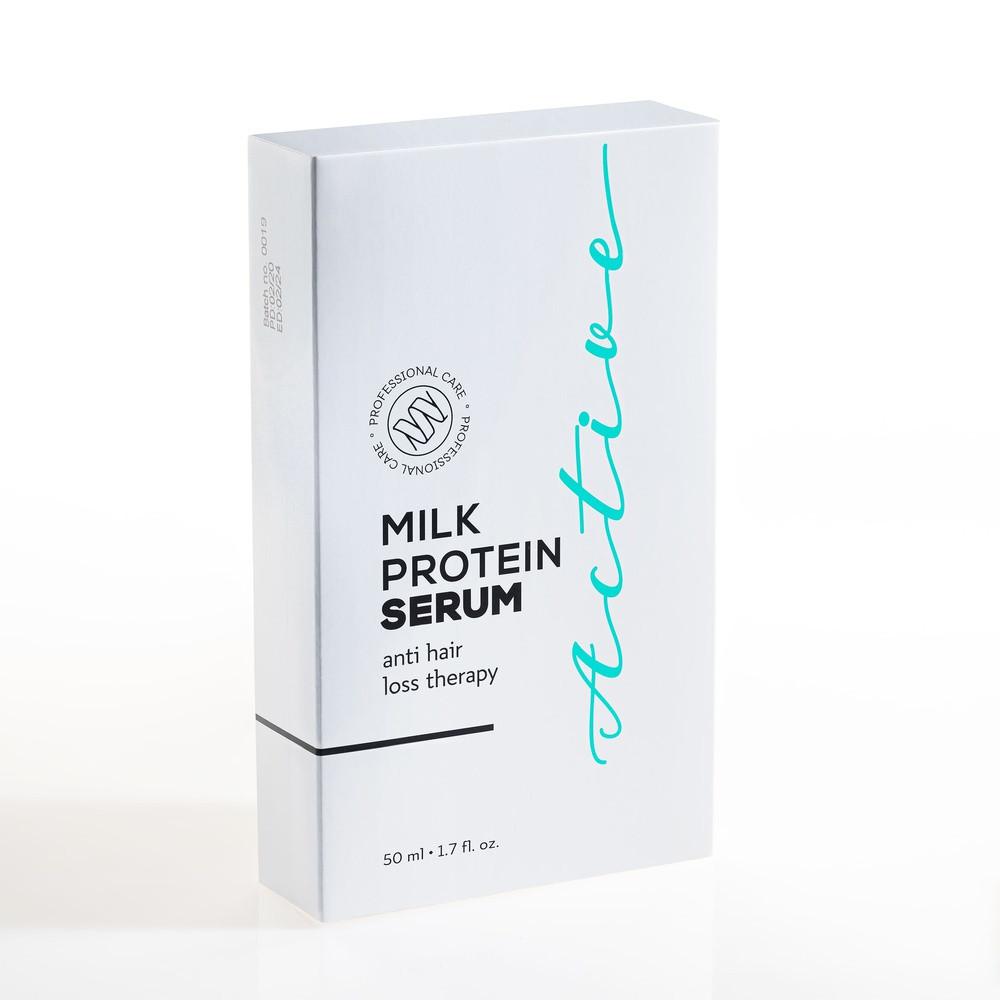 Сыворотка Active Milk Protein Serum против выпадения волос ампулы для роста укрепления волос бровей облысения