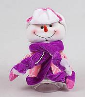 Банка для конфет с мягкой игрушкой Снеговик, 20см