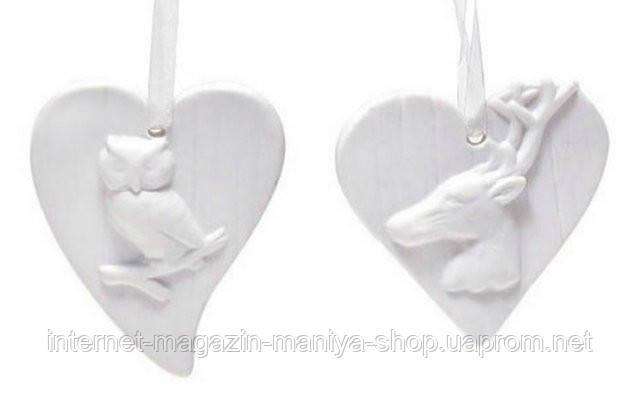 Фарфоровый подвесной орнамент в форме сердца в асс 2