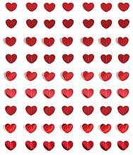 Гирлянда из зеркальных сердечек красная (2 метра)