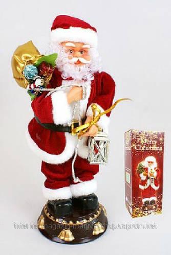 Музыкальная новогодняя игрушка Санта, 45см