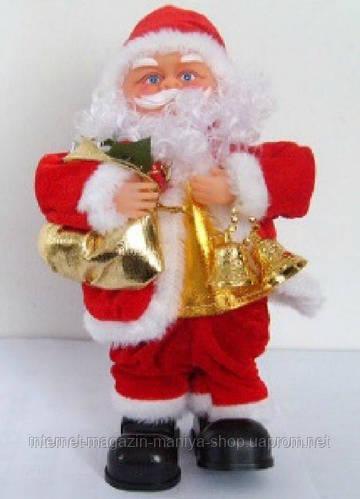 Музыкальная новогодняя игрушка Санта, 30см