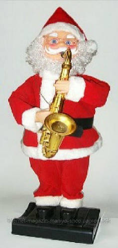 Музыкальная новогодняя игрушка Санта, 80см